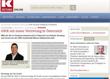 MAK K-Zeitung - Neue Vertretung von gwk seit 01.11.2015